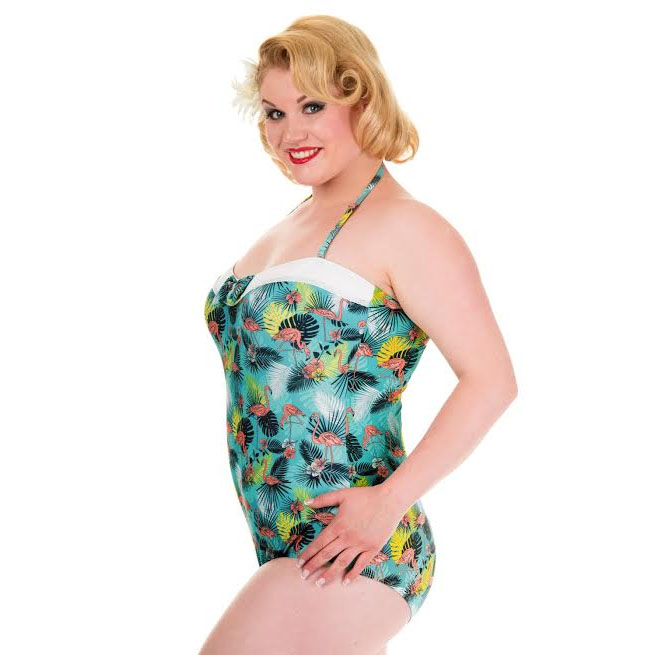 Wanderlust Plus Size Onepiece Swimsuit by Banned Clothing - SALE