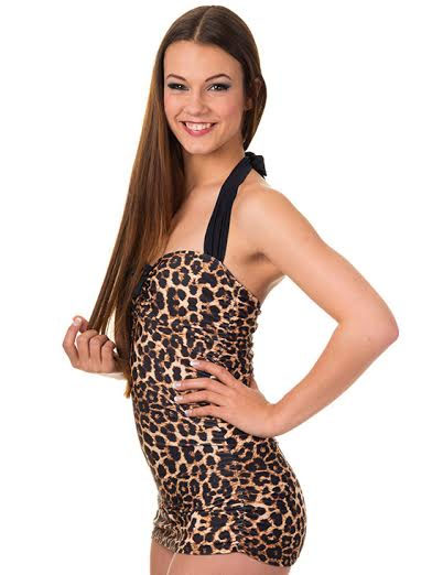 Leopard One Piece Swimsuit by Banned Clothing - SALE