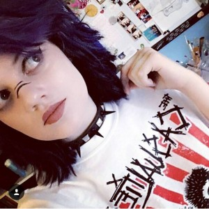 @brutales_katzchen in her The Casualties tee from the shop