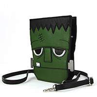 Sleepyville Frankenstein Head Shoulder Bag by Comeco