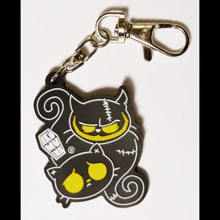 Good Cat Evil Cat Keychain / Purse Dangle by Akumu Ink