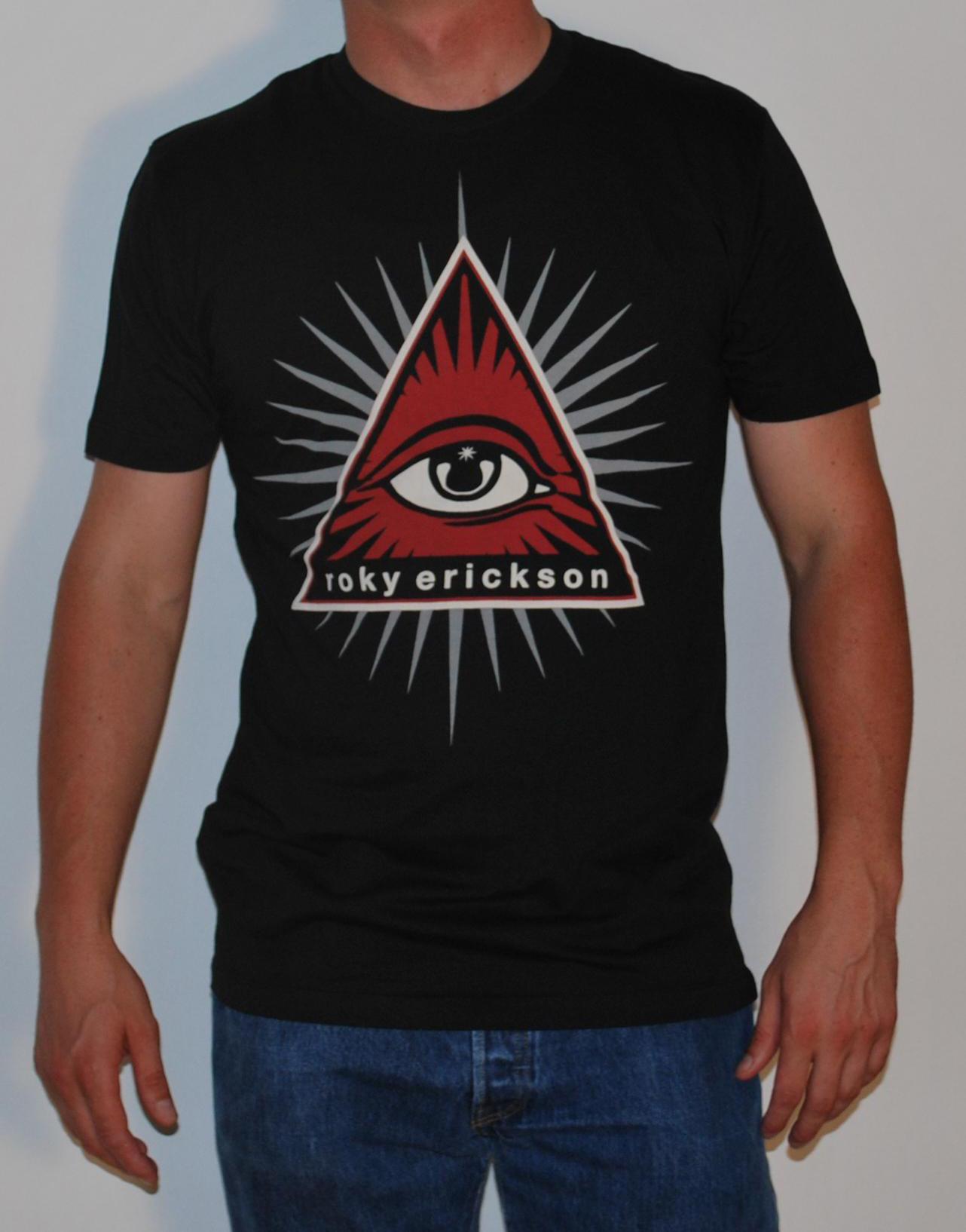 Roky Erickson- Pyramid on a black shirt (Sale price!)