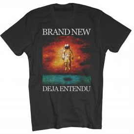Brand New- Deja Entendu on a black ringspun cotton shirt
