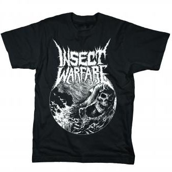 Insect Warfare- Nuclear Warfare on a black shirt