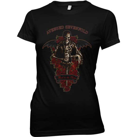 Avenged Sevenfold- Wicked Garden on a black girls fitted shirt (Sale price!)