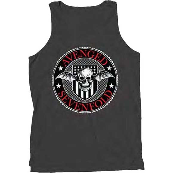 Avenged Sevenfold- Presidential Seal on a black tank shirt (Sale price!)