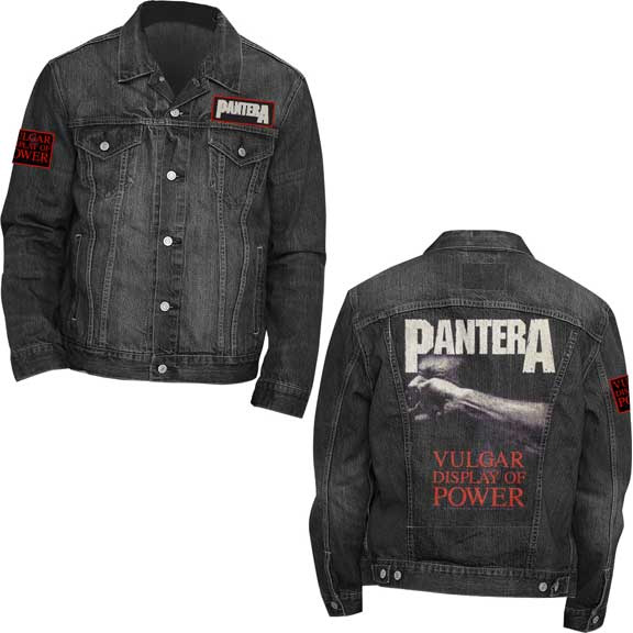 Pantera- Vulgar Display Of Power on a black denim jacket