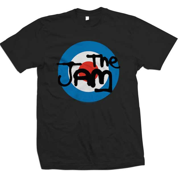 Jam- Mod Logo on a black shirt
