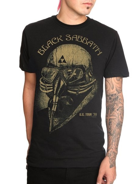Black Sabbath- US Tour '78 on a black ringspun cotton shirt