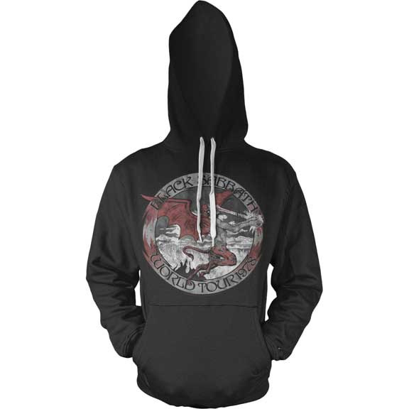 Black Sabbath- World Tour 1978 on a black hooded sweatshirt
