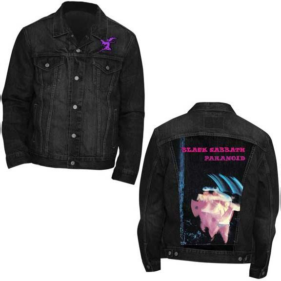 Black Sabbath- Paranoid on a black denim jacket