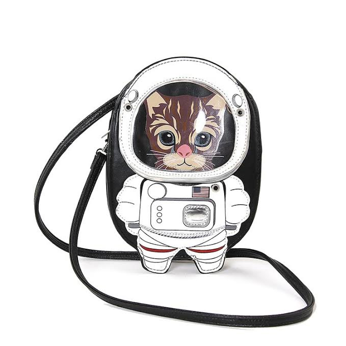Sleepyville Astronaut Cat Shoulder Bag