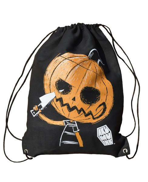 Sinister Smile Drawstring Sling Bag by Akumu Ink