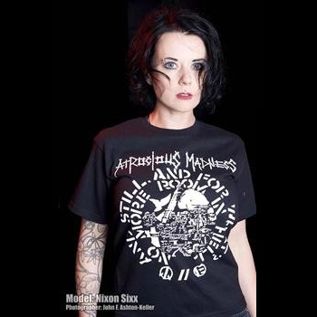 Atrocious Madness- No More Room In Hell on a black YOUTH sized shirt