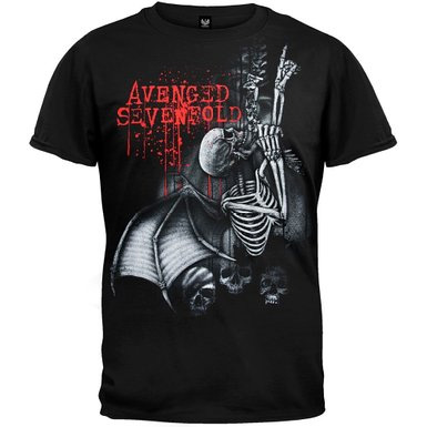 Avenged Sevenfold- Spine Climber on a black ringspun cotton shirt