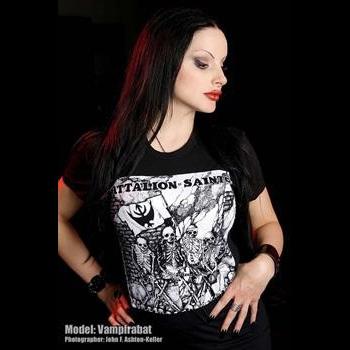 Battalion Of Saints- Skeletons on a black shirt