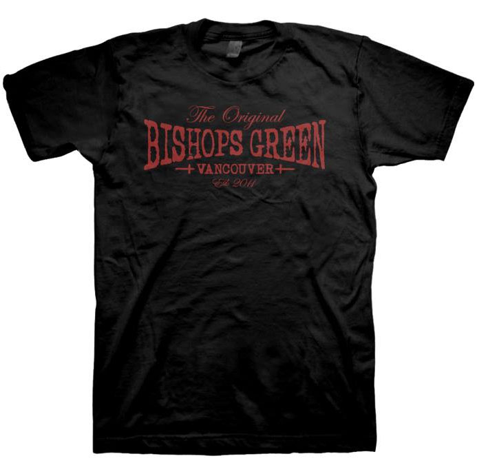 Bishops Green- The Original on a black girls fitted shirt