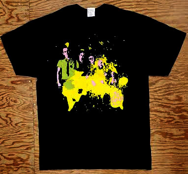 Boys- Splatter Band Pic on a black shirt