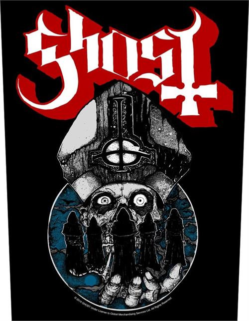 Ghost- Papa Warriors sewn edge back patch (bp64)