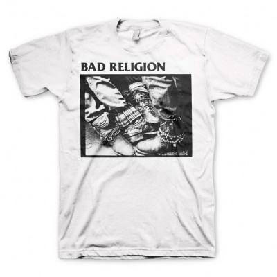 Bad Religion- 80-85 Boots on a white shirt