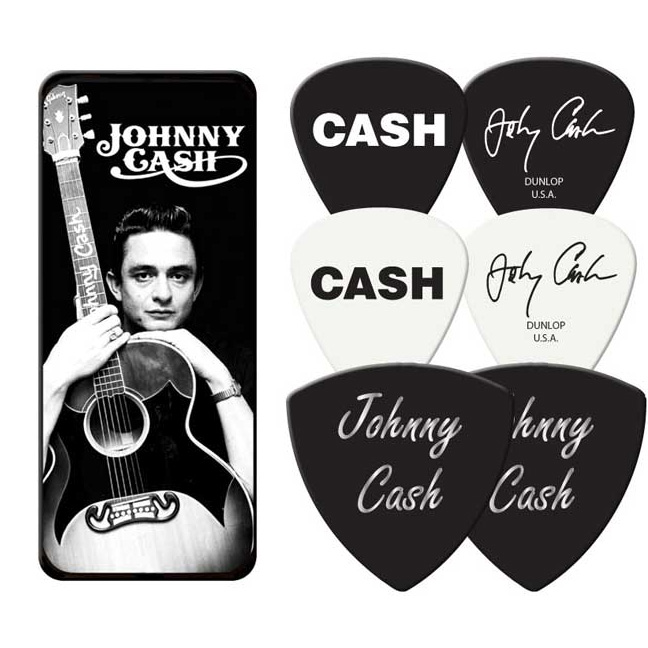 Johnny Cash- Young Man Guitar Picks In Collectors Tin