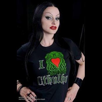 I Love Cthulhu on a black shirt (Sale price!)