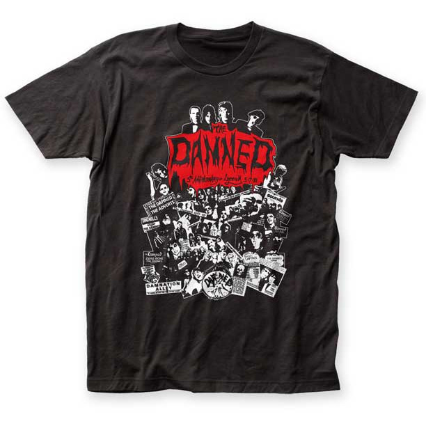 Damned- Lyceum 81 on a black ringspun cotton shirt (Sale price!)