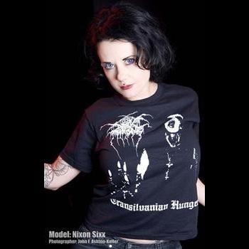 Darkthrone- Transylvanian Hunger on front, Logo on back on a black shirt