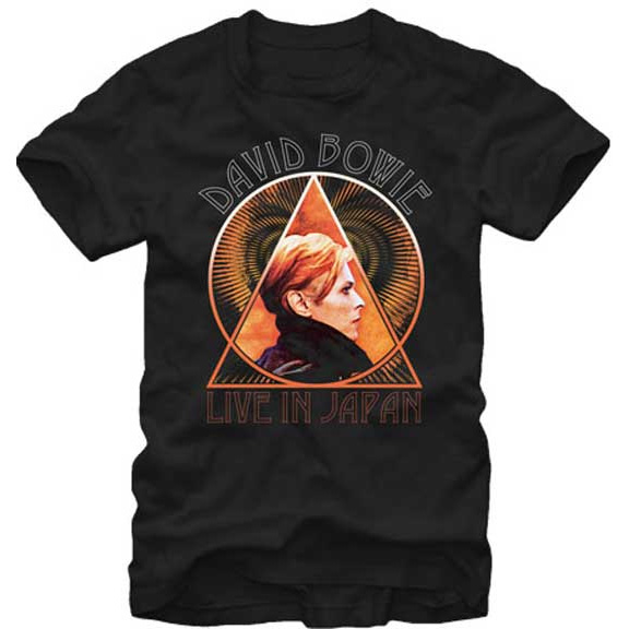 David Bowie- Live In Japan on a black shirt