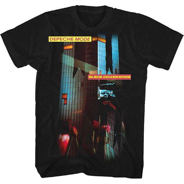 Depeche Mode Black Celebration On A Black Ringspun Cotton Shirt