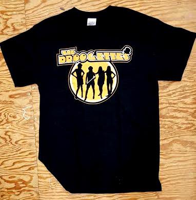 Droogettes- Clockwork Tunnel on a black shirt (Sale price!)