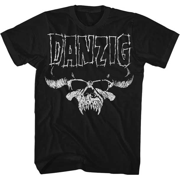 Danzig- Skull & Logo on a black shirt