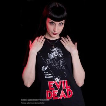 Evil Dead- Can They Be Stopped? on a black shirt