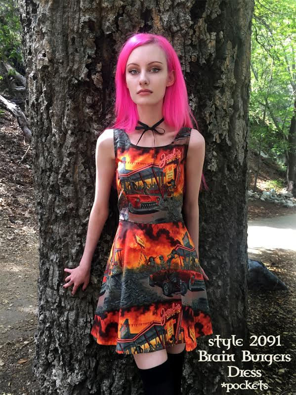 Brain Burgers Dress by Folter - SALE - Plus Size Only