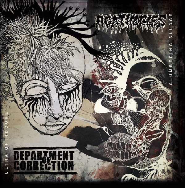 Agathocles / Department Of Correction- Split LP (Scene Support Version)