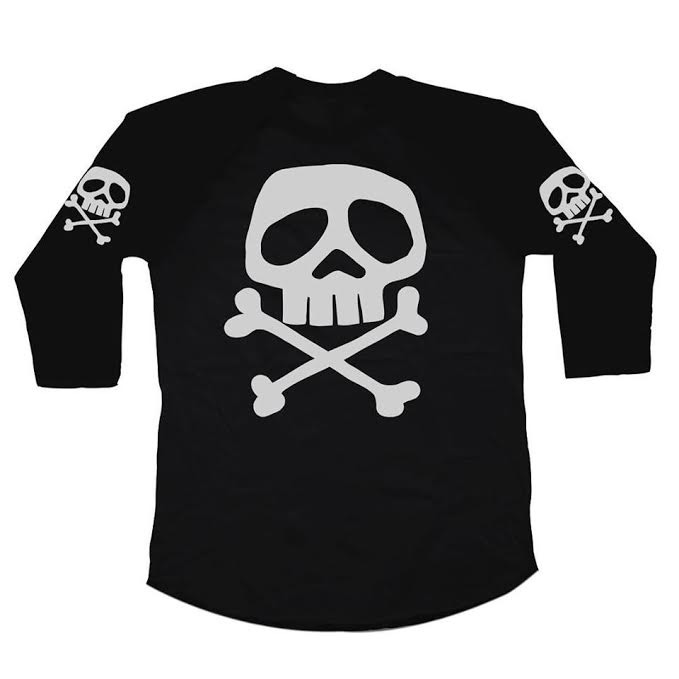 1979 Captain Harlock Danzig Repro 3/4 Length Sleeve Shirt by Western Evil