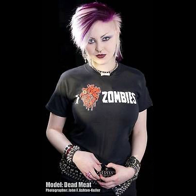 I Love Zombies on a black YOUTH sized shirt