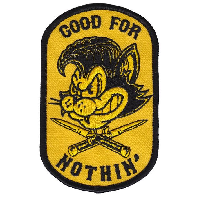 Kustom Kreeps Good For Nothin Embroidered Patch  - from Sourpuss (EP586)