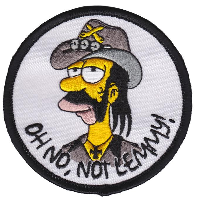 Oh No Not Lemmy - Lenny Embroidered Patch by Thrillhaus (EP567)
