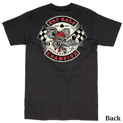 Rat Race on a black shirt by Lucky 13 Clothing - SALE sz M only