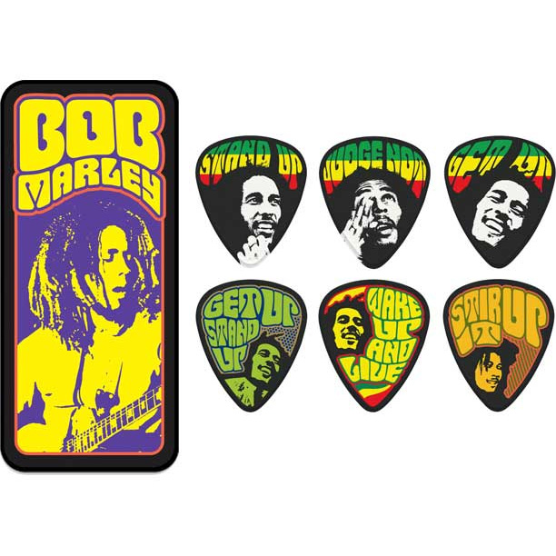 Bob Marley- Poster Series Guitar Picks In Collectors Tin