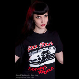 Mau Maus- Societys Rejects on a black shirt
