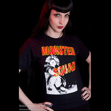 Monster Squad- Sitting Punk on a black YOUTH sized shirt