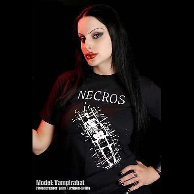 Necros- Skeleton on a black shirt