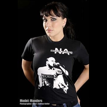 Negative Approach- Singer on a black shirt