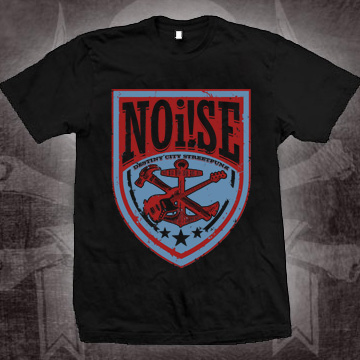 Noi!se- Destiny City on a black shirt (Sale price!)
