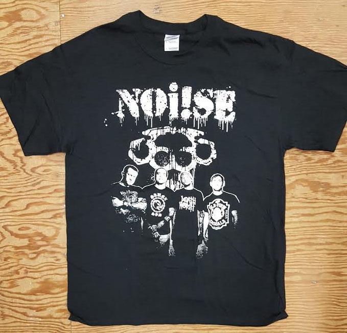 Noi!se- Band Pic on a black shirt