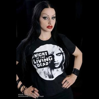 Night Of The Living Dead- Face In Circle on a black shirt