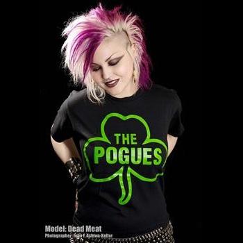 Pogues- Clover on a black shirt