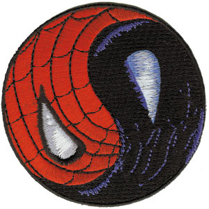 Marvel Comics- Spiderman, Yin Yang embroidered patch (ep581)